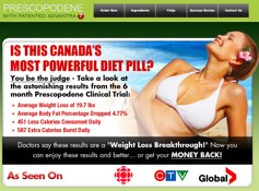 Prescopodene Canada Website