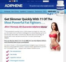 Adiphene Canada website